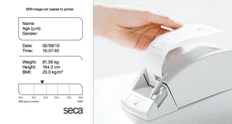 seca 466 - Wireless printer advanced for reception, analysis and printing of measurements on thermal paper or labels #2