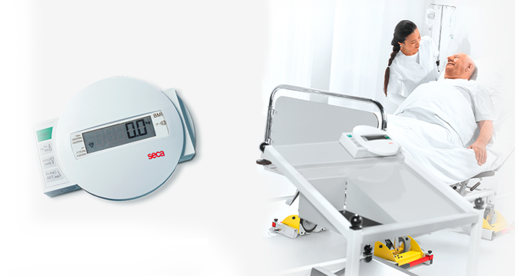 seca 984 - Digital bed and dialysis scale with equipment trolley #3