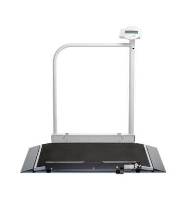 seca 676 r - Digital wheelchair scale with handrail and integrated RS232 interface #0