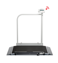 seca 676 - Digital wheelchair scale with handrail and wireless transmission