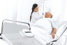 How can I accurately measure bedridden patients?