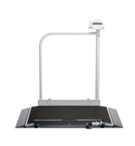 seca 676 r - Digital wheelchair scale with handrail and integrated RS232 interface