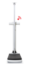 seca 703 s - Wireless column scale with integrated stadiometer